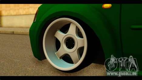 Dacia Logan Stance pour GTA San Andreas sur la vue arrière gauche
