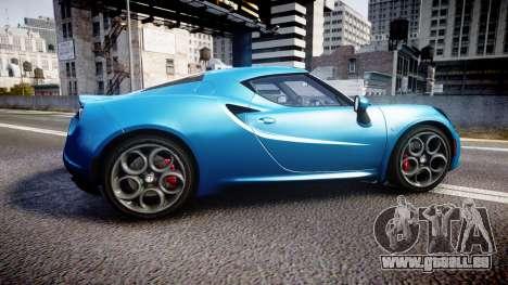 Alfa Romeo 4C 2014 HD Textures pour GTA 4 est une gauche