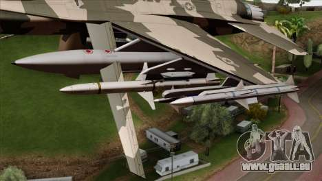 F-16C Top Gun für GTA San Andreas rechten Ansicht