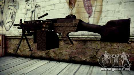 Gold M60 with Custom GTA 5 Icon für GTA San Andreas zweiten Screenshot