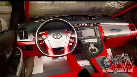 Toyota Prius Hybrid Eri Ayase Love Live Itasha pour GTA San Andreas vue intérieure