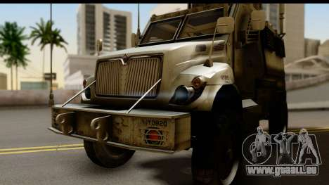 International MaxxPro MRAP für GTA San Andreas zurück linke Ansicht