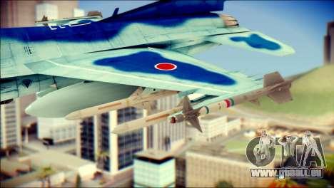 Mitsubishi F-2A JASDF v3.0 pour GTA San Andreas vue de droite