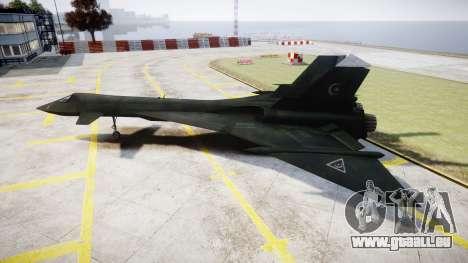 MiG-31 Fire Fox MEC PJ für GTA 4 linke Ansicht