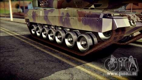 Leopard 2A6 PJ pour GTA San Andreas sur la vue arrière gauche
