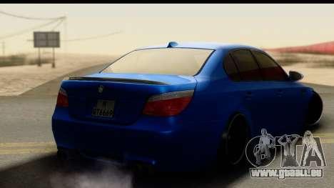 BMW M5 E60 Stanced pour GTA San Andreas laissé vue
