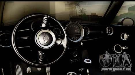 Mini Cooper Clubman 2011 pour GTA San Andreas vue intérieure