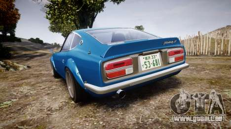 Nissan Fairlady Z (S30) Devil Z pour GTA 4 Vue arrière de la gauche