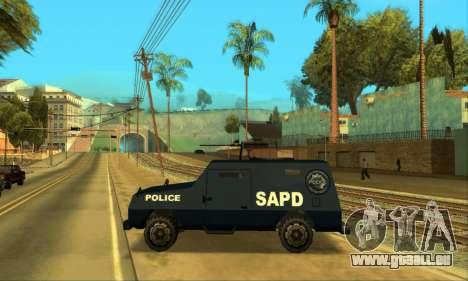 Beta FBI Truck für GTA San Andreas Innenansicht