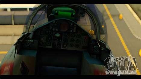 Mitsubishi F-4J JASDF pour GTA San Andreas vue arrière