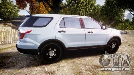 Ford Explorer Police Interceptor 2013 [ELS] pour GTA 4 est une gauche