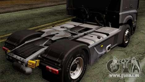 Mercedes-Benz Actros MP4 Euro 6 pour GTA San Andreas vue arrière