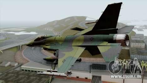 F-16C USAF CAS-EURO pour GTA San Andreas laissé vue