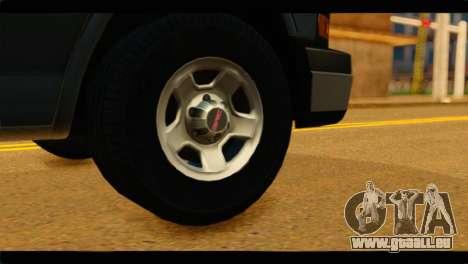 GMC Savana 3500 Passenger 2013 pour GTA San Andreas sur la vue arrière gauche