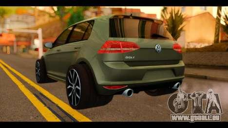 Volkswagen Golf Mk7 2014 pour GTA San Andreas laissé vue