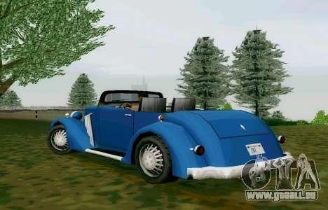 Hustler Cabriolet für GTA San Andreas zurück linke Ansicht