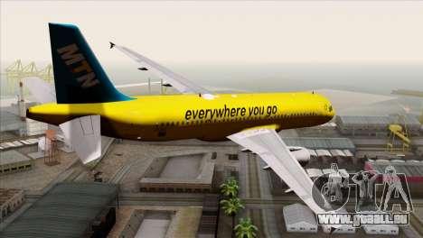 Airbus A320-200 MTN pour GTA San Andreas laissé vue