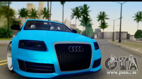Audi RS6 Vossen für GTA San Andreas zurück linke Ansicht