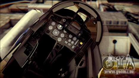 MIG-29 Fulcrum Reskin für GTA San Andreas Rückansicht