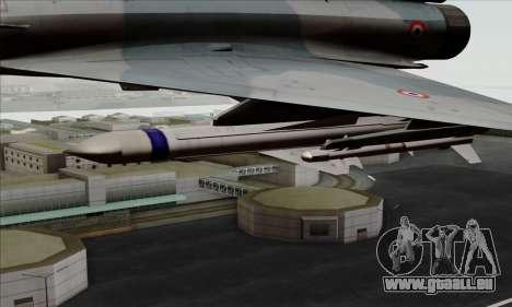 Dassault Mirage 2000-5 ACAH für GTA San Andreas rechten Ansicht