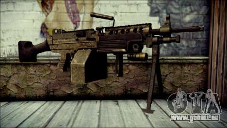 Gold M60 with Custom GTA 5 Icon für GTA San Andreas