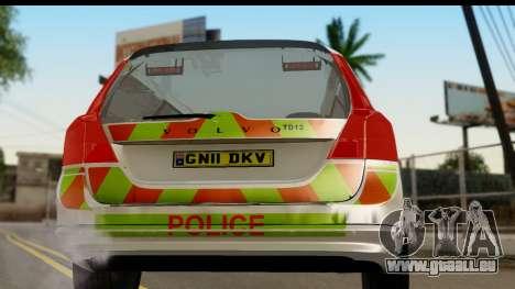 Volvo V70 Kent Police für GTA San Andreas rechten Ansicht