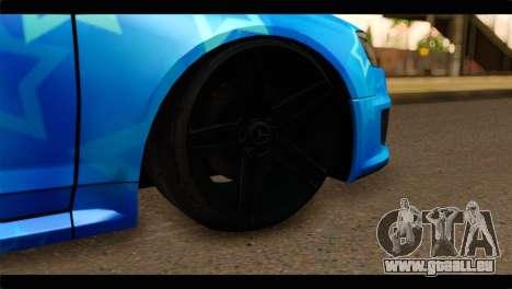 Audi RS6 VIP Star pour GTA San Andreas sur la vue arrière gauche