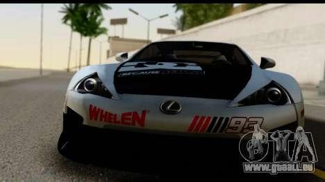 Lexus LFA 2010 Kaneki Ken Itasha für GTA San Andreas zurück linke Ansicht