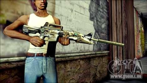 M4A1 Transformer CrossFire pour GTA San Andreas troisième écran