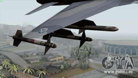 Northrop F-5E Tiger II Wardog Squadron pour GTA San Andreas vue de droite