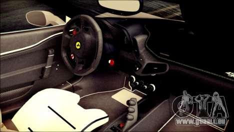 Ferrari 458 Speciale 2015 HQ für GTA San Andreas rechten Ansicht