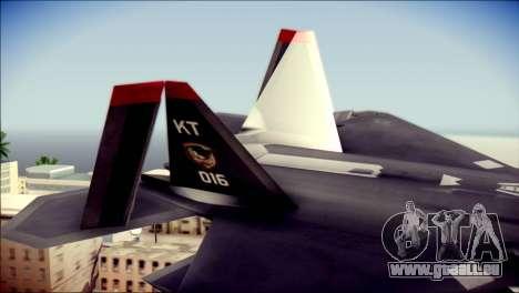 F-22 Raptor Razgriz für GTA San Andreas zurück linke Ansicht