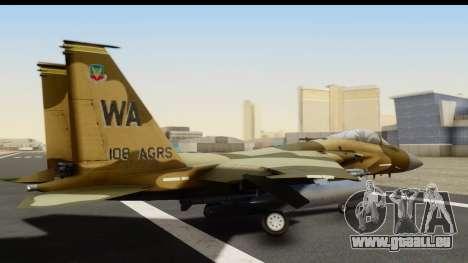 F-15C Eagle Desert Aggressor pour GTA San Andreas laissé vue