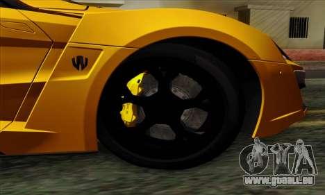 Lykan Hypersport 2014 Livery Pack 2 pour GTA San Andreas sur la vue arrière gauche