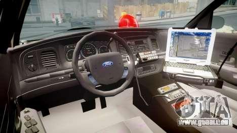 Ford Crown Victoria NYPD Unmarked [ELS] für GTA 4 Rückansicht