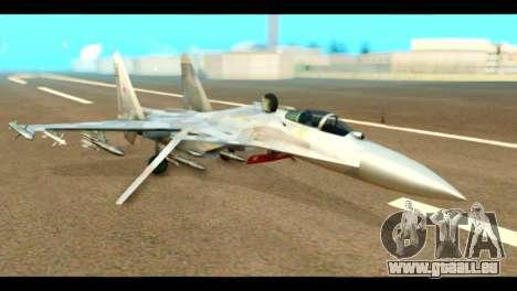 SU-37 Terminator Russian AF Camo pour GTA San Andreas