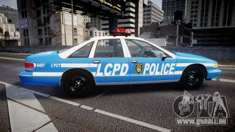 Chevrolet Caprice 1993 LCPD Without Hubcabs ELS für GTA 4 linke Ansicht