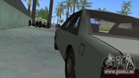 Premier Coupe für GTA San Andreas Rückansicht