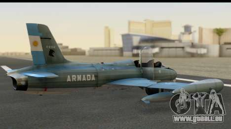 Aermacchi MB-326 ARM für GTA San Andreas linke Ansicht
