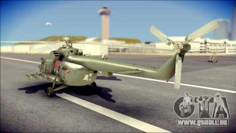 Mil Mi-8 Polish Air Force EUFOR für GTA San Andreas linke Ansicht