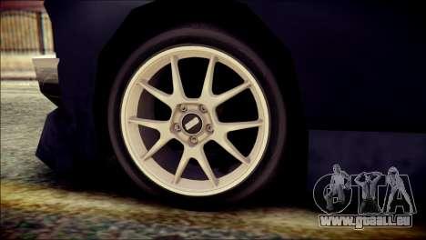 Sentinel GT pour GTA San Andreas sur la vue arrière gauche