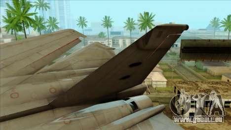 SU-27SK Indonesian Air Force pour GTA San Andreas sur la vue arrière gauche