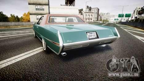 Albany Manana GTA V Style pour GTA 4 Vue arrière de la gauche