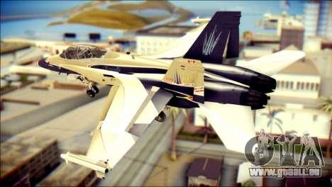 FA-18D Hornet RCAF pour GTA San Andreas laissé vue