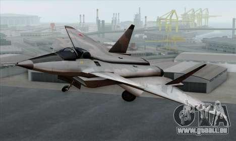 MIG 1.44 Flatpack Russian Air Force für GTA San Andreas Rückansicht