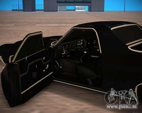 Chevrolet El Camino SS Green Hornet für GTA San Andreas Rückansicht