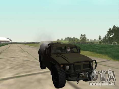 GAZ-2330 Vor für GTA San Andreas Rückansicht