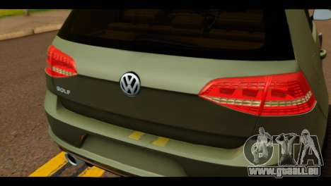 Volkswagen Golf Mk7 2014 für GTA San Andreas Rückansicht