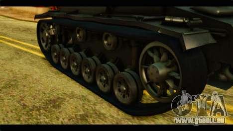 StuG III Ausf. G Girls und Panzer pour GTA San Andreas vue arrière