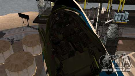 P-39N Airacobra JASDF Blue Impulse für GTA San Andreas rechten Ansicht
